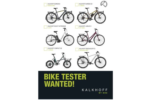 UB Kalkhoff news Bike Tester Wanted